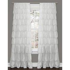 Lush Decor Ruffle White 84-inch Curtain Panel - Overstock™ Shopping - Great Deals on Lush Decor Curtains