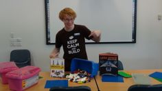 Toby's ready for our Lego Master classes. All three sessions booked out!