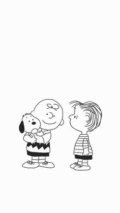 Snoopy, Charlie Brown, and Linus wallpaper