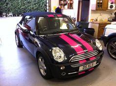 mini cooper pink gt stripes