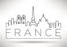 Embroidery Pattern of Paris Skyline. jwt Embroidery Pattern of Paris Skyline. Doodle Drawings, Doodle Art, Easy Drawings, Paris Drawing, City Drawing, City Sketch, Skyline Design, Modern Typography, Typographic Design
