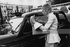 Angie Bowie arrives at the Earl's Court Exhibition Centre, London, before a concert by her husband, David Bowie, on his Ziggy Stardust Tour, 12th May 1973.