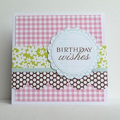 Past Design Team Member-Ingrid Danvers: Card-Birthday Wishes - April Projects Ingrid