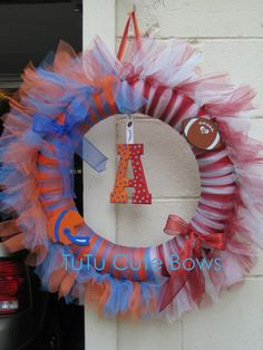 House divided wreath... Etsy product, but I think this could be made quite easily.