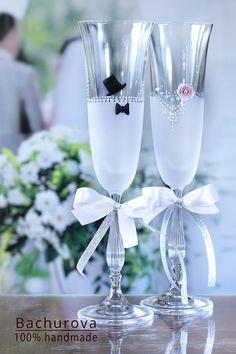 Items similar to Wedding glasses on Etsy Wedding Toasting Glasses, Wedding Champagne Flutes, Toasting Flutes, Champagne Glasses, Candy Gift Box, Candy Gifts, Wedding Toasts, Wedding Day, Wedding Shit