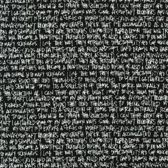 Carolyn Friedlander - Architextures - Scribble Notes in Black