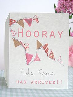 lovely birth announcement card