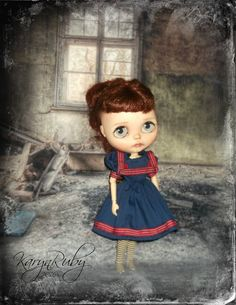 Blythe   Sailor Dress   Vintage Inspired    By by KarynRuby