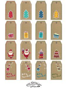 #Etiquetas navideñas gratis descargables para imprimir personalizar y decorar vuestros #regalos de #Navidad                                                                                                                                                                                 Más