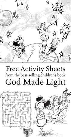 god created light coloring pages - photo#11