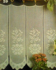 Vintage Crocheted Cape Cod Curtain Pattern by MAMASPATTERNS, $3.50