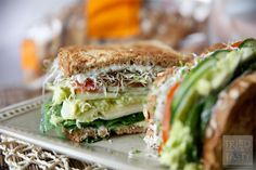 This sandwich is loaded with all sorts of delicious vegetables! Make it with Dave's Killer Bread and you have yourself a wonderful lunch!