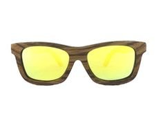 Natural wood zebra frame yellow gold lenses eco luxe Style sunglasses