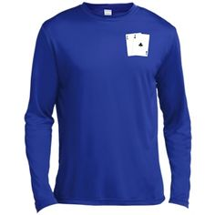 $27.95 Long-Sleeve Moisture Absorbing T-Shirt from AnyTwo.biz. Available in black, forest green, true navy, true royal (shown), or true red.