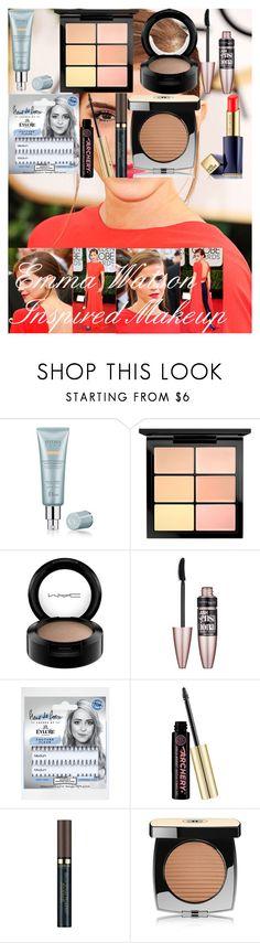 Emma Watson Inspired Makeup by oroartye-1 on Polyvore featuring beauty, Christian Dior, Chanel, MAC Cosmetics, Estée Lauder, eylure, Völu, Maybelline, L'Oréal Paris and Emma Watson