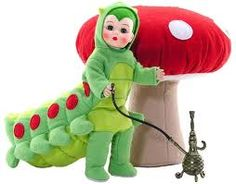 Caterpillar. $75.96. This sweet little guy is dressed in a light green caterpillar suit with chartreuse colored tummy, ten extra legs, red spots down his back, and little antennae. He comes with a giant plush mushroom and huka.