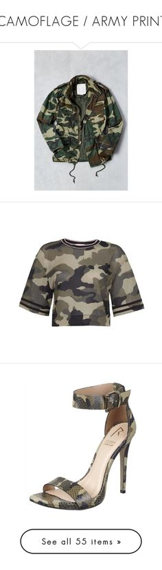 """""""CAMOFLAGE / ARMY PRINT"""" by outfitsbyrubiered ❤ liked on Polyvore featuring men's fashion, men's clothing, men's outerwear, men's jackets, mens camo jacket, mens cotton military jacket, mens cotton jacket, mens camouflage jacket, mens zip jacket and tops"""
