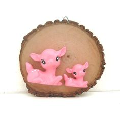 Handmade Chalkware Deer Mother and Child Wall Hanging on by ismoyo, $15.00