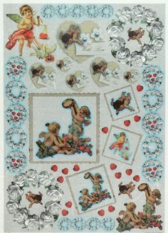 Rice Paper for Decoupage Decopatch Scrapbook Craft Sheet Vintage Angels Love