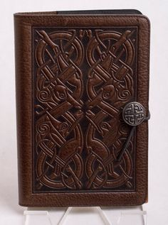 Hand-carved Leather Book Cover