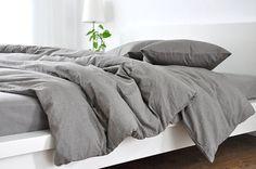 Medium Grey linen duvet cover linen duvet von CustomLinensHandmade