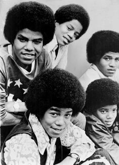 young Michael with his brothers. Jackson 5