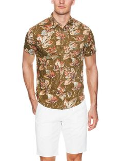 Leaf Pocket Shirt from Trending Now: Short Sleeve Button-Ups on Gilt