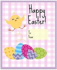 Little Bow Sweets | PRINTABLES  FREE Kids Easter Card