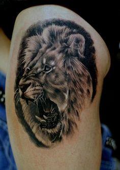 #sacredink #lion #tattoo