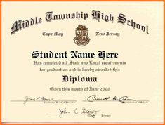Diploma Template | Free Printable High School Diploma Template Huge Collection Of High