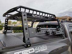 Toyota Tacoma Bed Rack, fits years 2005 and up — KB Voodoo Fabrications Toyota 4x4, Toyota Trucks, Toyota Hilux, Toyota Tundra, Ford Ranger, Tacoma Bed Rack, Tactical Truck, Navara D40, Benne