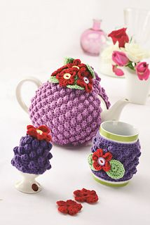 Violet Blossom by Susie Johns - Let's Knit September issue, on sale now!