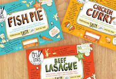Packaging design for Mrs. Tinks dinners - ready meals for kids