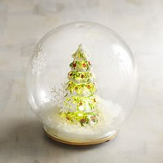 Pier 1 Imports LED Light-Up Christmas Tree In Globe ($15) ❤ liked on Polyvore featuring home, home decor, holiday decorations, green, pier 1 imports, holiday decor, glass home decor, fall home decor and holiday home decor