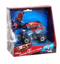 Spiderman 2 In 1 Monster My Ride Package Includes: 1 Spiderman Vehicle 1 Monster Truck
