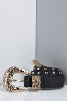 Amy Western Detail Stud Belt at boohoo.com
