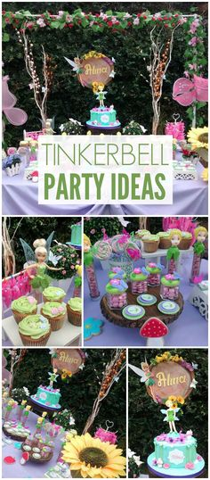 You have to see this Tinkerbell party with amazing details! See more party ideas at CatchMyParty.com!