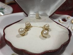 Pearl drop earrings are as versatile as a pearl necklace. Pearl Drop Earrings, Ear Piercings, Ears, Dangles, Campaign, Content, Treasure Chest, Medium, Stuff To Buy