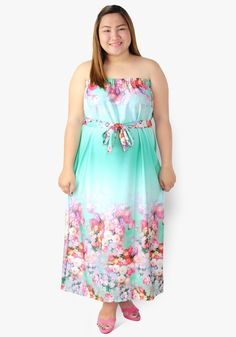 Brighten up the whole world by putting on this floral tube dress. Those beautiful floral prints. Tube Maxi Dresses, Tube Dress, Summer Dresses, Designer Party Dresses, Maternity Dresses, Put On, Casual Dresses, Floral Prints, Fabric