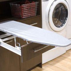 ironing board in drawer / Laundry Room, BiglarKinyan design group