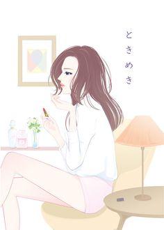 展示のイラスト☆(ギャラリーDAZZLE「いろはCarta展」)の画像:necoya illustration blog *猫屋的日記*