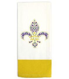Fleur de lis crown hand towel