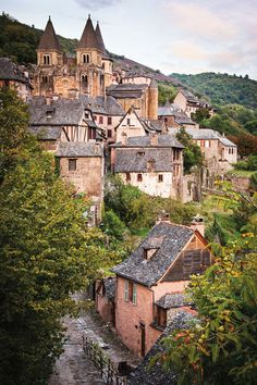 The medieval hamlet of Conques, Aveyron, France. Photo: Michael Paul Aveyron is the wildly wondrous, little-known corner of southern France where a sophisticated crowd have put down ro Places Around The World, The Places Youll Go, Places To Go, Best Vacation Destinations, Best Vacations, Vila Medieval, Belle France, Beaux Villages, Dordogne