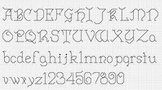 Pretty back stitch script!