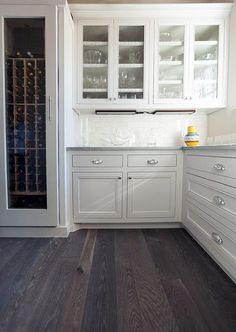 From rustic hardwood to modern marble, discover the top 60 best kitchen flooring ideas. Explore unique cooking space floors for your home. Grey Hardwood Floors, Grey Flooring, Flooring Ideas, Dark Hardwood, Concrete Kitchen, Stone Kitchen, Kitchen Grey, Grey Kitchens, Cool Kitchens