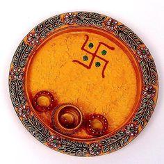 Papeir Mache Pooja Thali/chopda , Find Complete Details about Papeir Mache Pooja Thali/chopda,Papier Mache Handicrafts - Pooja Thali / Chopda from Wood Crafts Supplier or Manufacturer-Zest Overseas Diy Wedding Ring, Desi Wedding Decor, Wedding Art, Diwali Diy, Diwali Craft, Diwali Pooja, Arti Thali Decoration, Kalash Decoration, Diy Diwali Decorations