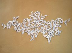1 Pair Lace Appliques,Ivory Embroidered Flowers,Patches For Wedding Supplies,Bridal Hair Flower,Head Wedding Embroidery, Vintage Embroidery, Beaded Embroidery, Bridal Hair Flowers, Bridal Lace, Wedding Lace, Embroidered Lace Fabric, Lace Applique, Embroidery Transfers