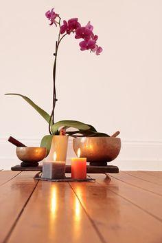Gestalten Sie sich einen schönen Ort zur Meditation.