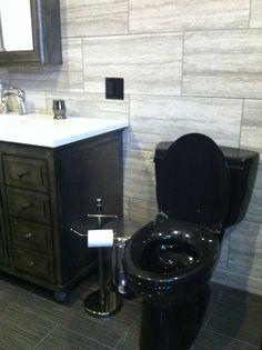 black toilet and vanity bathroom pinterest black toilet rh pinterest com black bathroom toilet water stains black toilet bathroom ideas