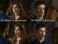 Donna and the Doctor. Doctor Who! the doctor Donna! David Tennant, Superwholock, Downton Abbey, Candice Renoir, Outlander, Serie Doctor, Supernatural, Catherine Tate, 10th Doctor